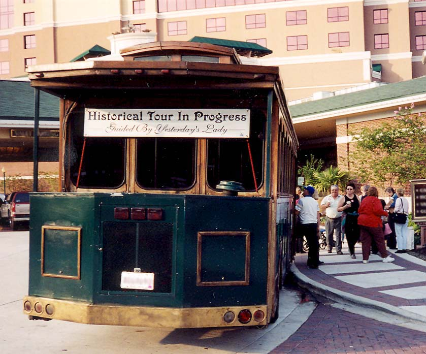 Boarding the Trolly for a Yesterday's Lady Tour of Shreveport